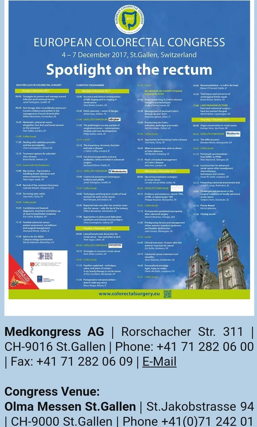 Ευρωπαϊκό συνέδριο χειρουργικής παχέος εντέρου και πρωκτού
